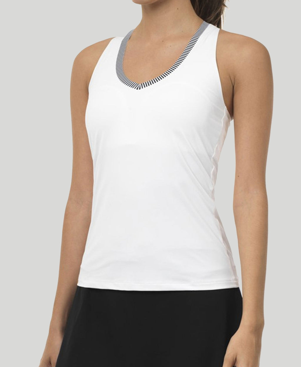 Essential V-Neck Tank - Black