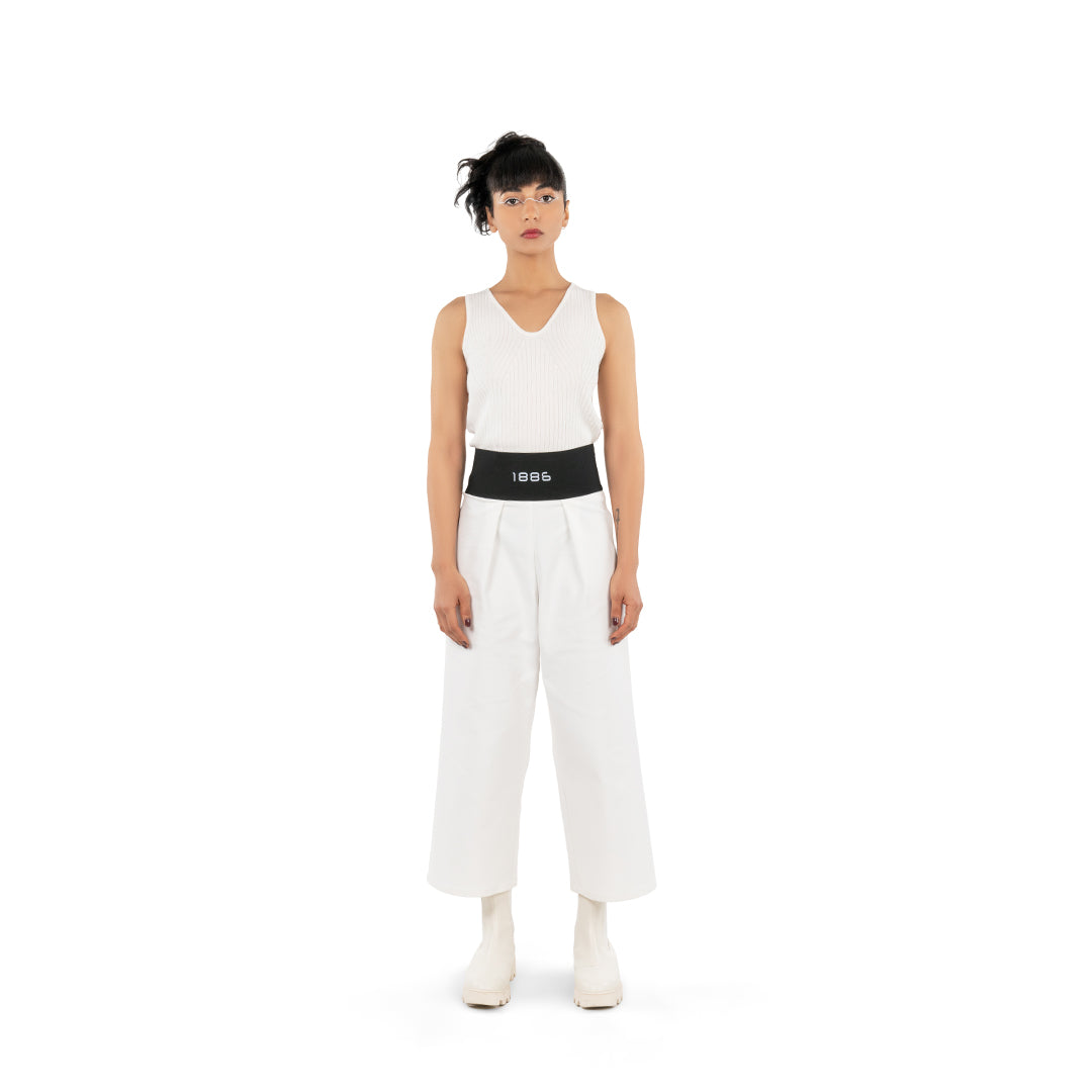 HIGH WAIST PANTS - OFF WHITE