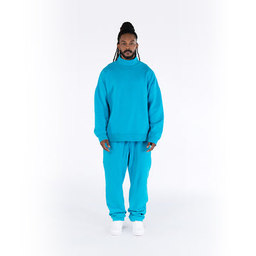 HIGH-NECK JUMPER - BLUE