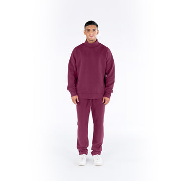 HIGH-NECK JUMPER - MAROON
