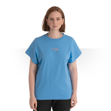 JAMAICAN CUT OVERSIZE T - SHIRT BLUE WOMEN