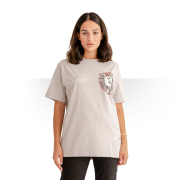 PURE SAUDI WOMEN T - SHIRT GREY