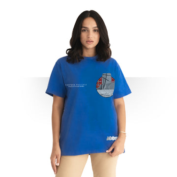 PURE SAUDI WOMEN T - SHIRT BLUE