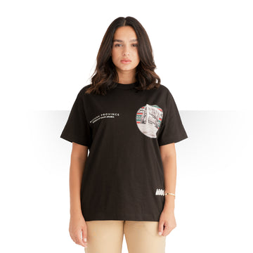 PURE SAUDI WOMEN T - SHIRT BLACK