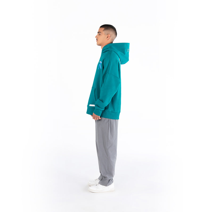 ART NOT FINISHED YET - GREEN HOODIE