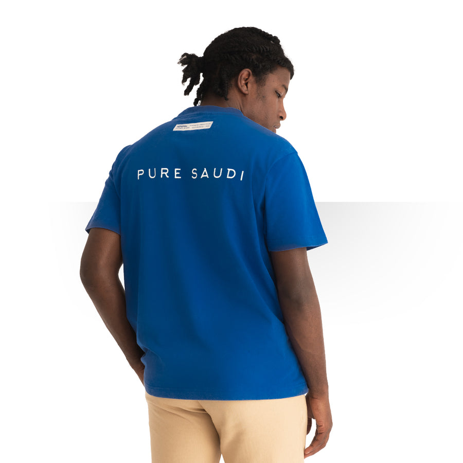 PURE SAUDI T - SHIRT BLUE
