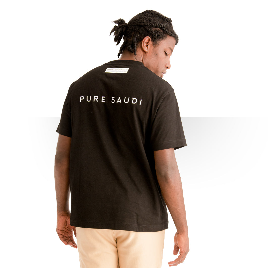 PURE SAUDI T - SHIRT BLACK