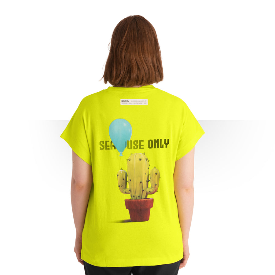 JAMAICAN CUT OVERSIZE OVERSIZE T - SHIRT YELLOW WOMEN