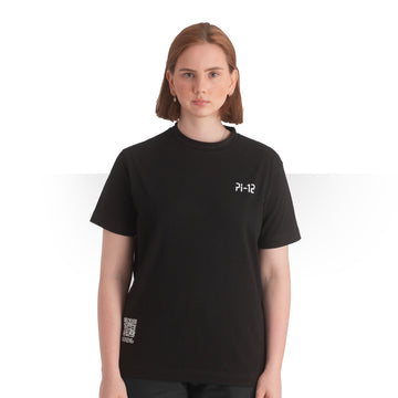 PI 12 OVERSIZE T - SHIRT BLACK WOMEN