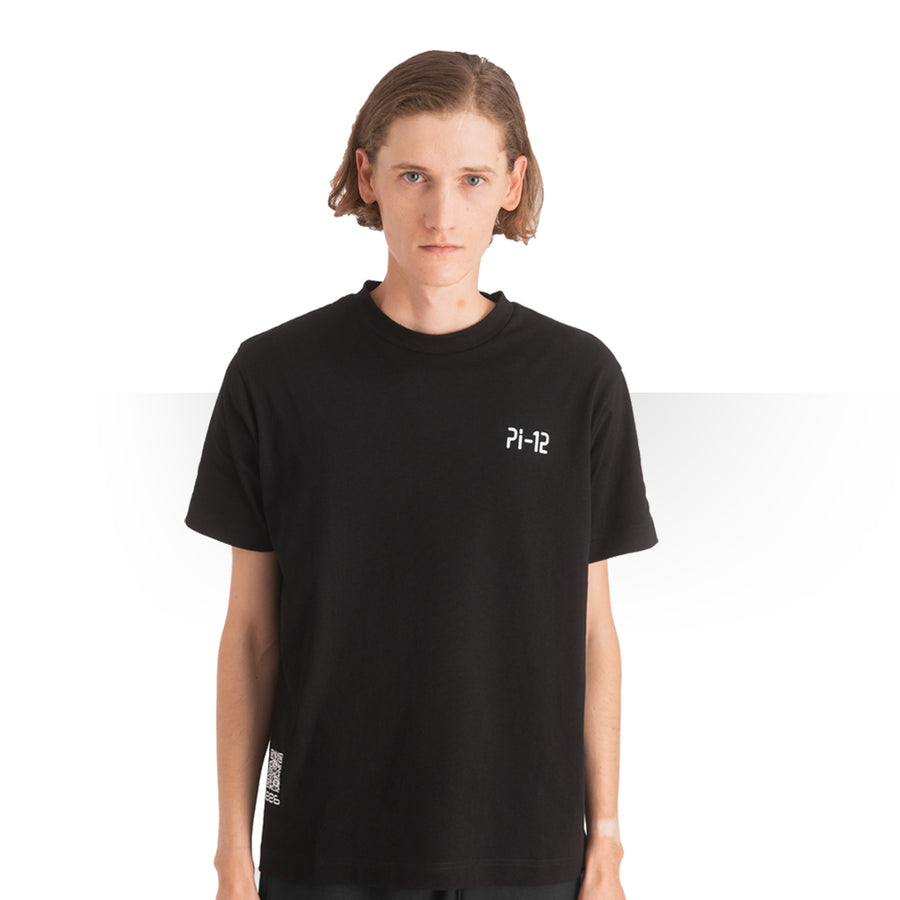 PI 12 T - SHIRT BLACK