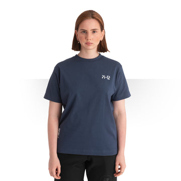 PI 12 OVERSIZE T - SHIRT BLUE WOMEN