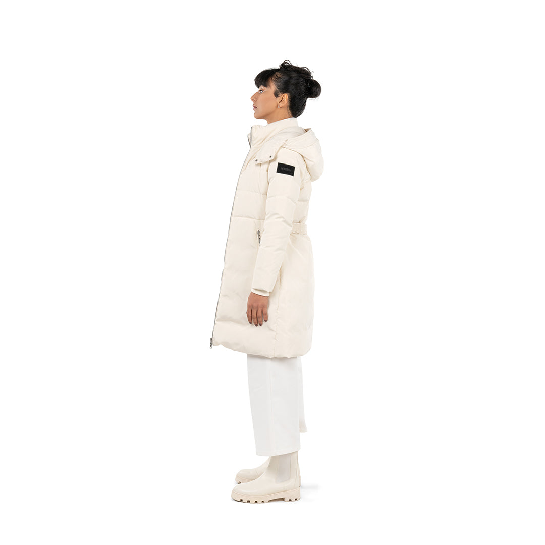 PUFFER COAT - OFF WHITE