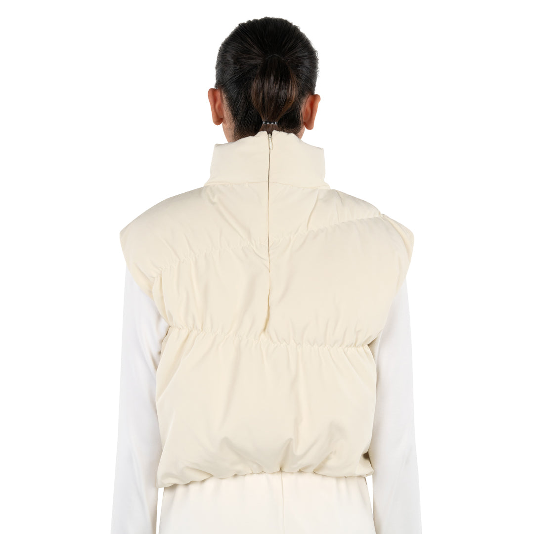 PUFFER TOP - OFF WHITE