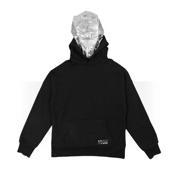 Black/Astro Silver Double Hoodie