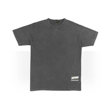 PLAIN OVER SIZED T-SHIRTS DARK GREY