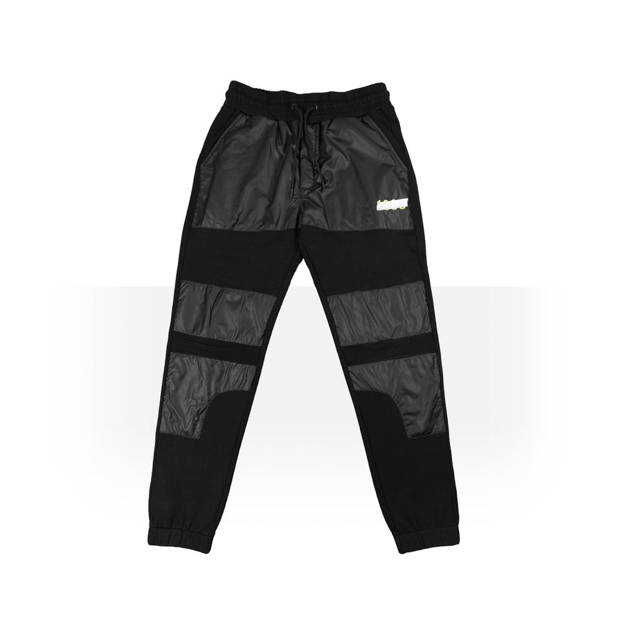 Padded Black Sweatpants