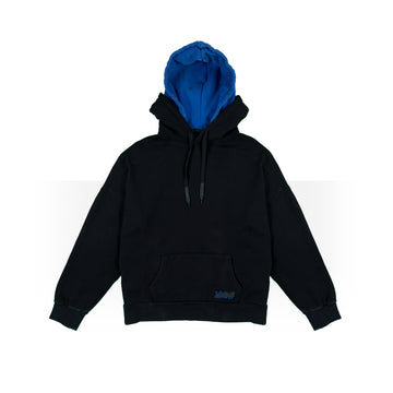 Black/Blue Double Hoodie Women