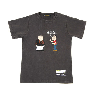 PETER & QUAGMIRE Adios Dark Grey T-shirt Women