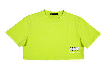 green-crop top-t-shirt