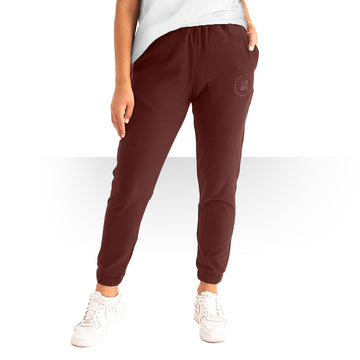 MAROON OVERSIZED PANTS WOMEN