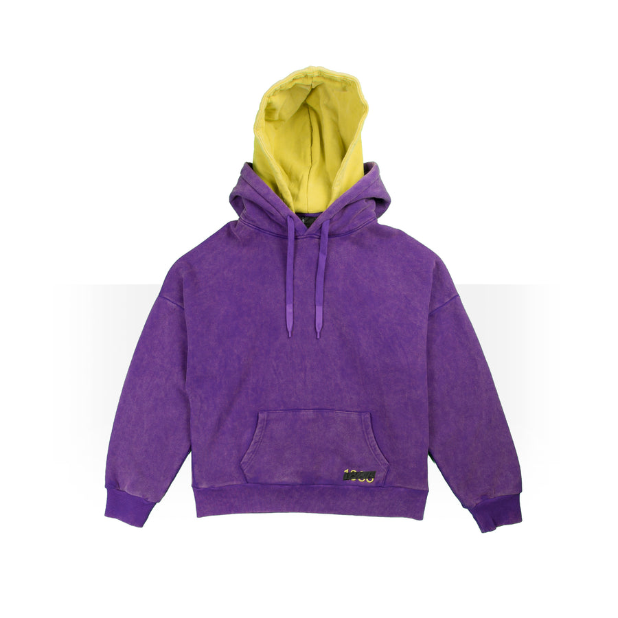 Purple/Yellow Double Hoodie