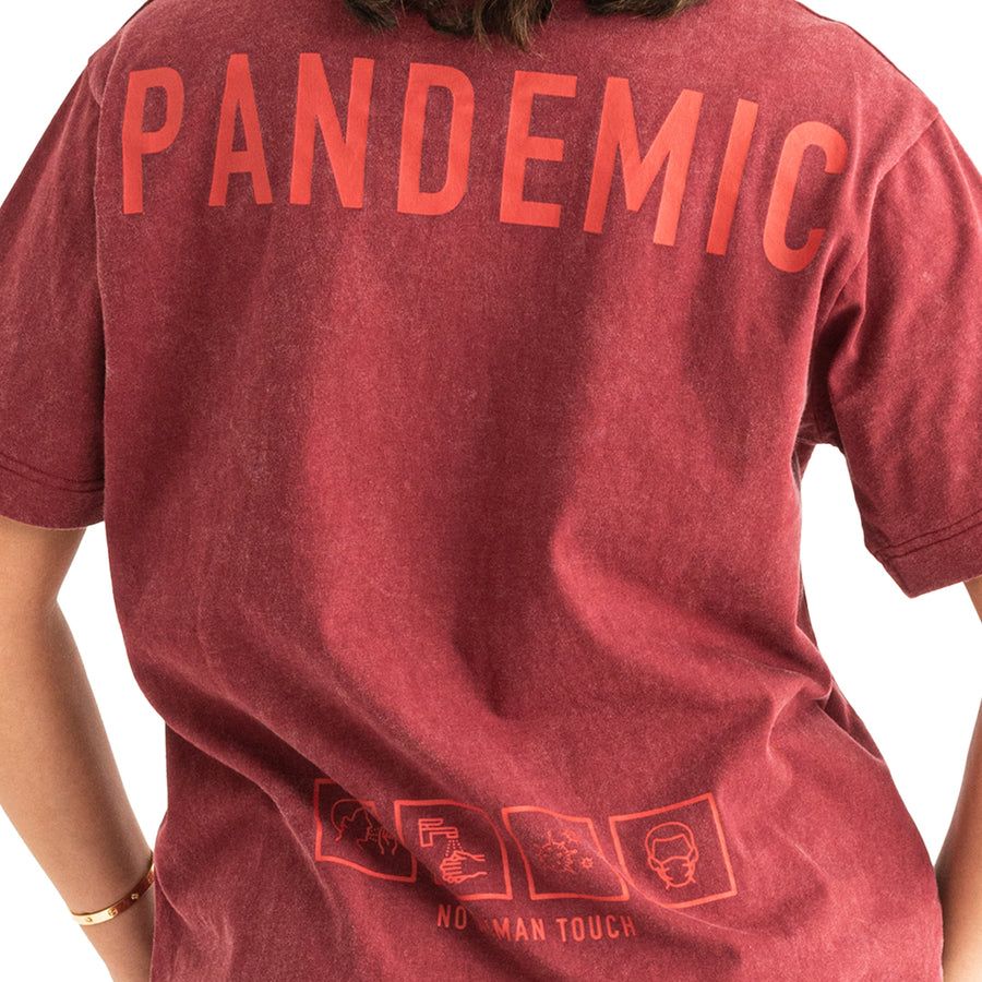 Pandemic OVERSIZE  T - SHIRT RED WOMEN