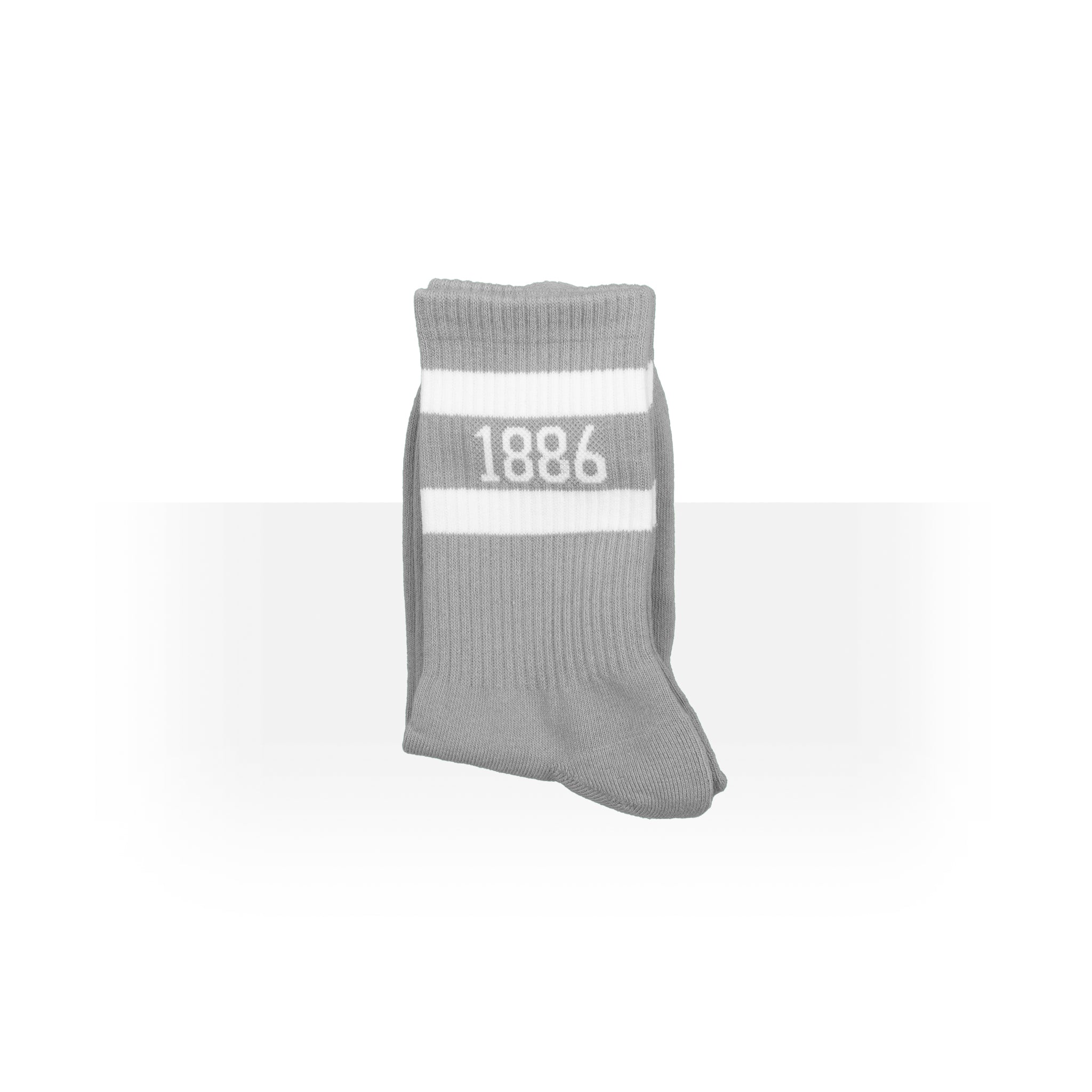 """1886"" Grey And White Anklet Socks"