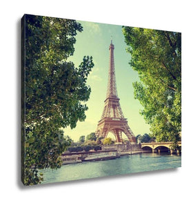 Gallery Wrapped Canvas, Eiffel Tower Paris France - My Fifth Avenue