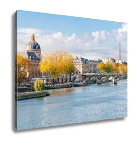 Gallery Wrapped Canvas, The Seine In Paris - My Fifth Avenue