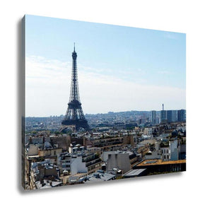 Gallery Wrapped Canvas, Color Dslr Stock Image Of Eiffel Tower Paris France With The Capital Cityscape - My Fifth Avenue
