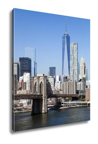 Gallery Wrapped Canvas, The New York City Downtown W The Freedom Tower 2014 - My Fifth Avenue
