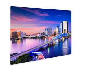 Metal Panel Print, Jacksonville Florida Skyline - My Fifth Avenue