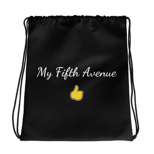My Fifth Avenue - Branded Drawstring Bag (Black) - My Fifth Avenue