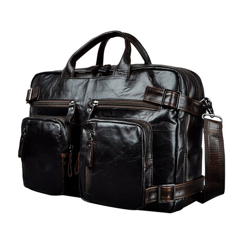 Men's Leather Briefcase - My Fifth Avenue