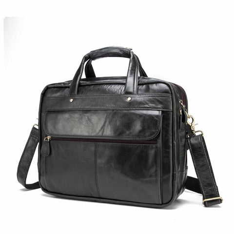 Men's Leather Business Briefcase - My Fifth Avenue