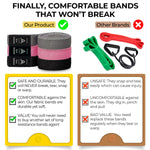 Go and Achieve Long Resistance Bands Set (3 PACK) + FREE GUIDE