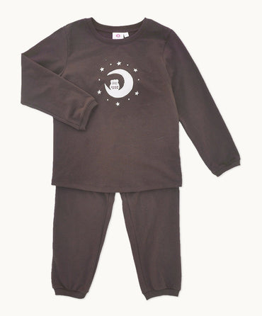 Chocolate Owl Cotton Pyjama Set