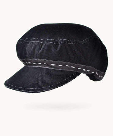 Black Corduroy Hat