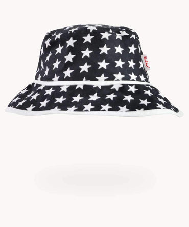 Black Star Cotton Sunhat