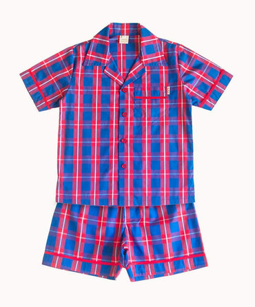 Blue Boy Check Cotton Pyjamas