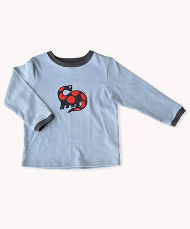 Blue Dinosaur Long Sleeve Shirt