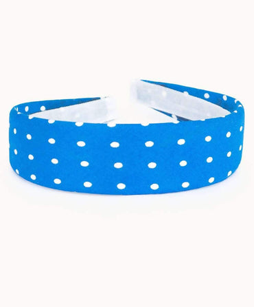 Blue Polkadot Headband