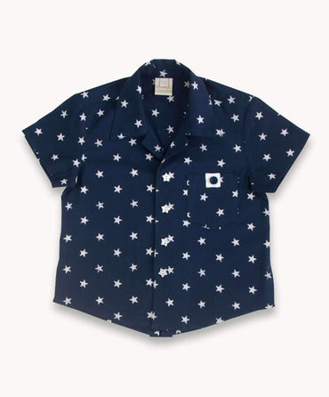 Blue Star Cotton Shirt
