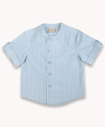 Blue Stripe Granddad Shirt