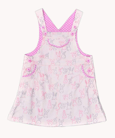 Bunnies Corduroy Pinafore