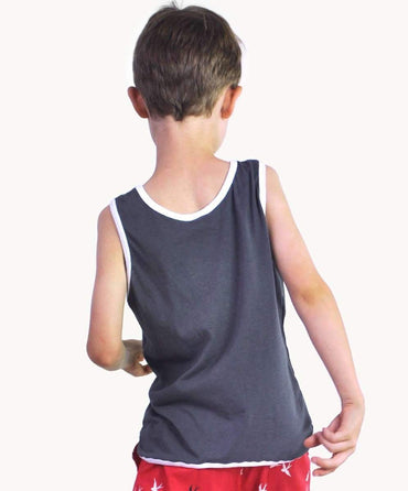 Charcoal Galleon Tank Top