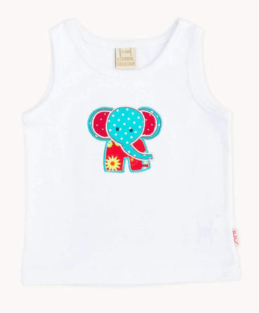 Cute White Elephant Tank Top