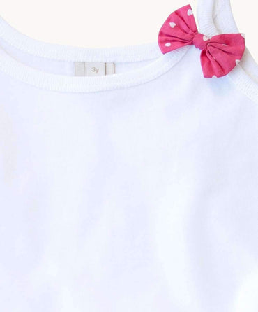 Essential White Cotton Toddler Singlet