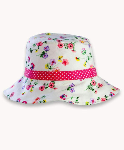 Floraly Coraly Cotton Hat