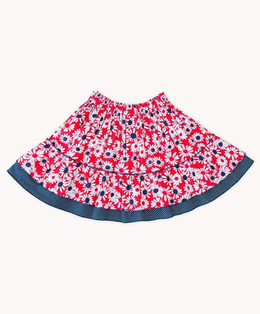French Daisy Cotton Skirt
